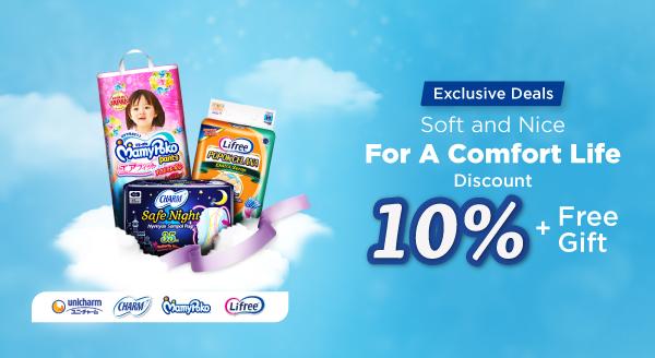 Promo Produk Unicharm Kenyamanan Sempurna untuk Seluruh Keluarga Indonesia!