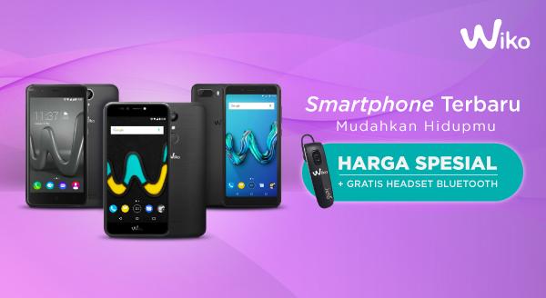 Update Smartphone-mu dengan Wiko, Harga Spesial & Gratis Headset Bluetooth