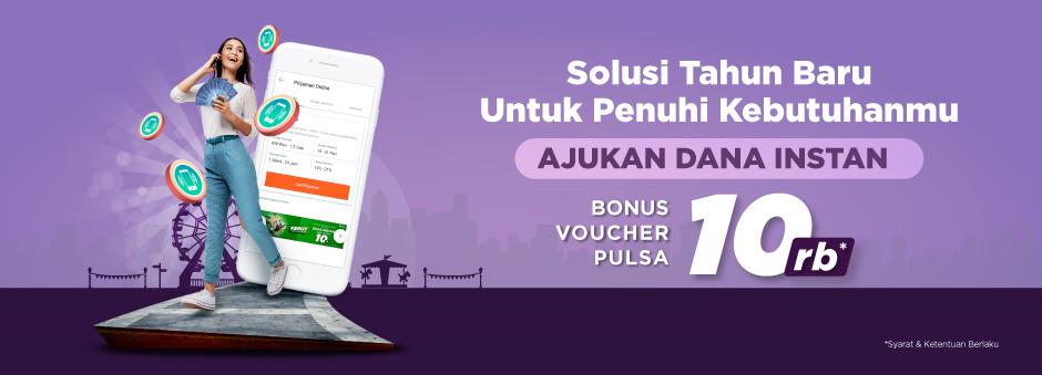 Ajukan Dana Instan di Tokopedia, Bonus Voucher Potongan Produk Pulsa Rp10.000!