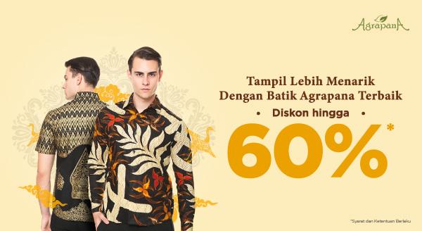 Diskon s.d 60% untuk Tampil Menawan Dengan Batik Pilihan!