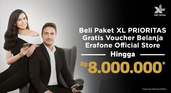 Belanja Paket Kuota Internet XL, Bonusnya Voucher Belanja hingga 8 Juta!