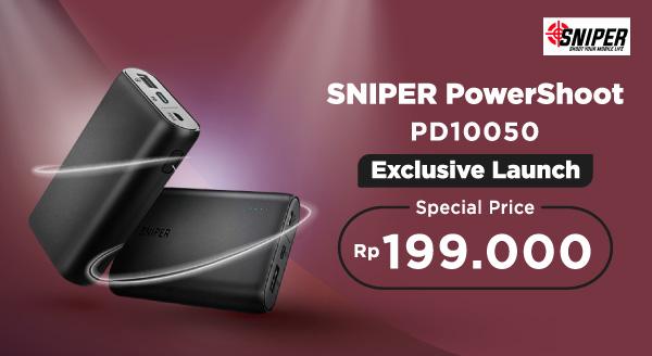 Powerbank Sniper Harga Spesial dari Rp559.000 jadi Rp199.000. Ayo Serbu!