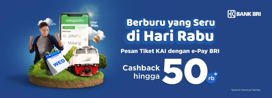 Pesan Tiket Kereta Mudik, Bayarnya Pakai e-Pay BRI, Yuk!