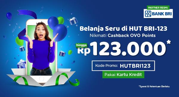 Belanja Seru Pakai Kartu Kredit BRI, Ada Cashback hingga Rp123.000
