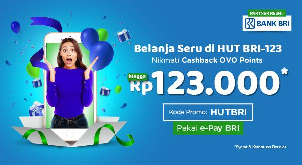 Belanja Seru Pakai e-Pay BRI, Ada Cashback hingga Rp123.000