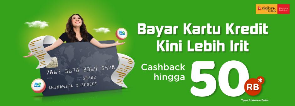 Bayar Kartu Kredit Digibank di Tokopedia. Bonus Cashback