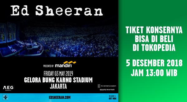 Jangan Lewatkan Konser Ed Sheeran Jakarta 3 Mei 2019 !
