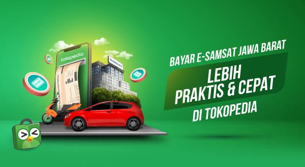 Nikmati Promo e-Samsat untuk Bayar e-Samsat Jawa Barat di Tokopedia, Begini Caranya!