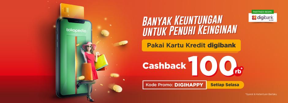 Nikmati Cashback Rp100.000 dengan Kartu Kredit digibank