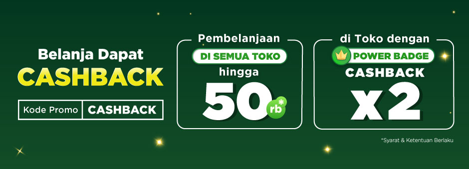 Belanja dapat Cashback hingga Rp50.000!