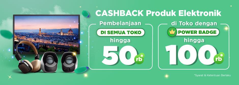 Cashback Hingga Rp50.000 untuk Kategori Elektronik