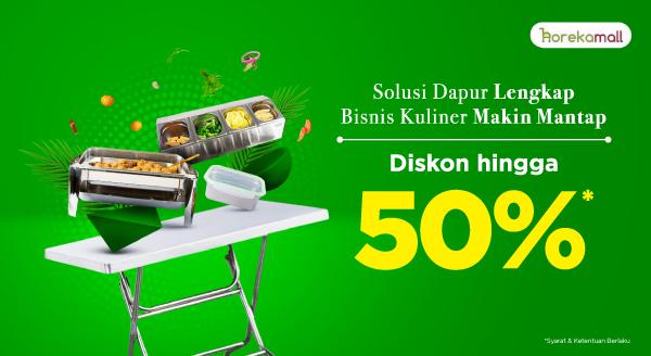 Bisnis Kuliner Itu Gampang, Penuhi Peralatannya Sekarang! Diskon hingga 50%