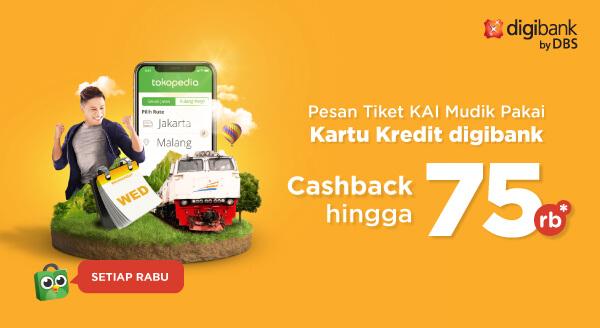 Pesan Tiket Kereta Mudik, Bayarnya Pakai CC Digibank, Yuk!