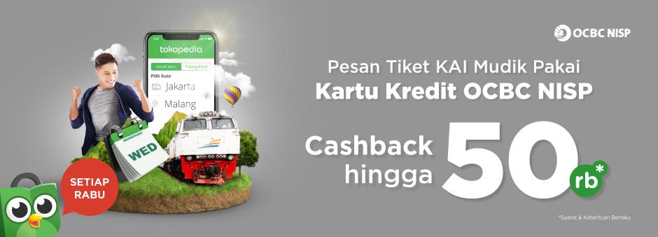Pesan Tiket Kereta Mudik, Bayarnya Pakai CC OCBC, Yuk!