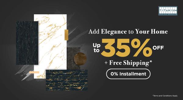 Nikmati Diskon hingga 35% Produk Titanium Lamina Granite