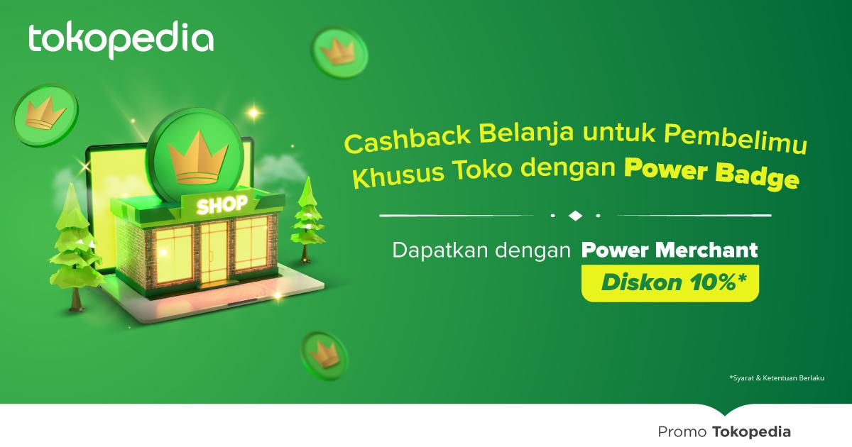 Dapatkan Power Badge dengan Langganan Power Merchant
