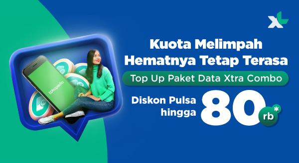 Top Up Paket Data XL, Diskon Pulsa hingga Rp80.000!