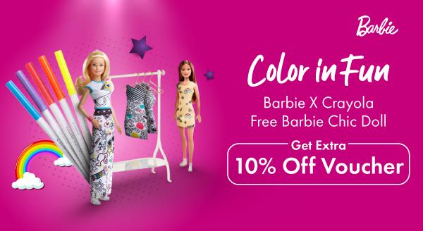Bunda, Yuk Buat Si Kecil Bisa Mewarnai Baju Barbie Semaunya di Sini!