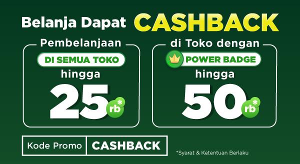 Belanja dapat Double Cashback hingga Rp50.000!