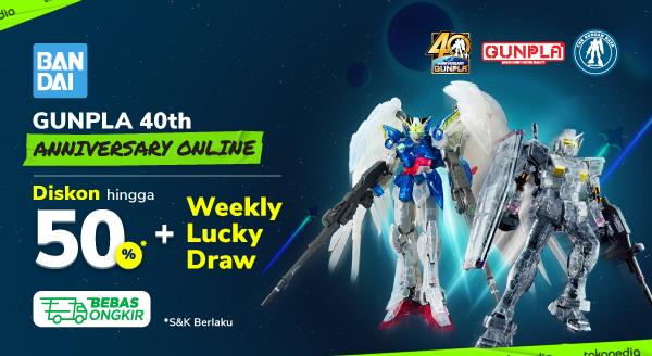 Gunpla 40th Anniversary Online. Diskon hingga 50% + Weekly Lucky Draw