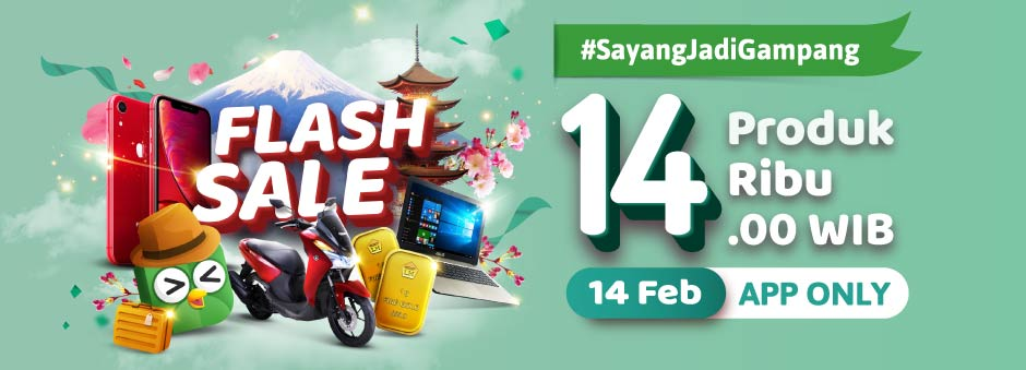 Tokopedia Flash Sale 14 Produk 14 Ribu!