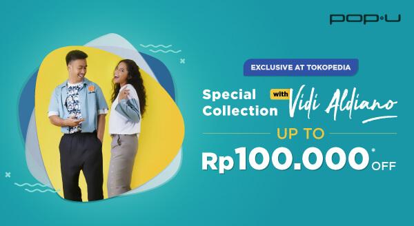Dapatkan Koleksi Eksklusif Pop U x Vidi Aldiano di Official Store!