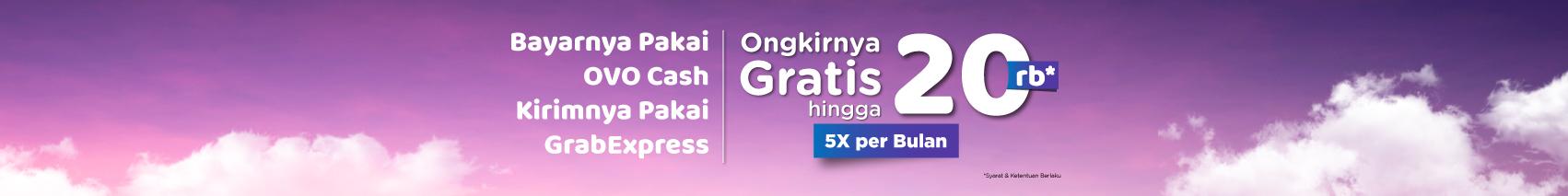5x Gratis Ongkir Pakai Grab Express & OVO Cash