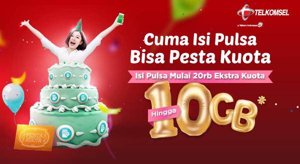 Beli Pulsa Telkomsel Bisa Pesta Kuota