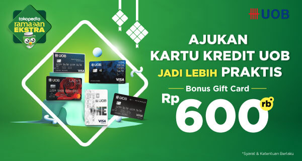 Apply Kartu Kredit UOB sekarang! Ada Bonus Gift Card 600.000 menanti