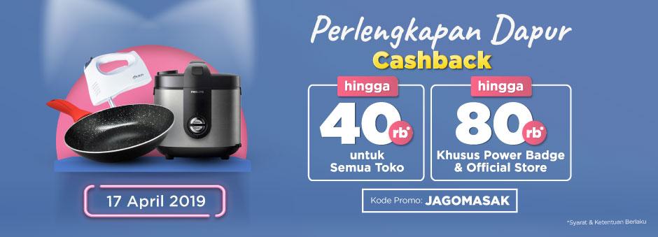 Belanja Sekarang! Ada Double Cashback up to Rp80.000 untuk Kategori Dapur | Tokopedia