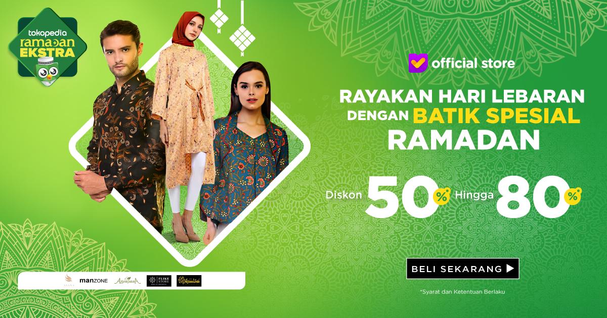 Lebaran Pakai Batik, Suasana Jadi Lebih Asik. Diskon 50% hingga 80%