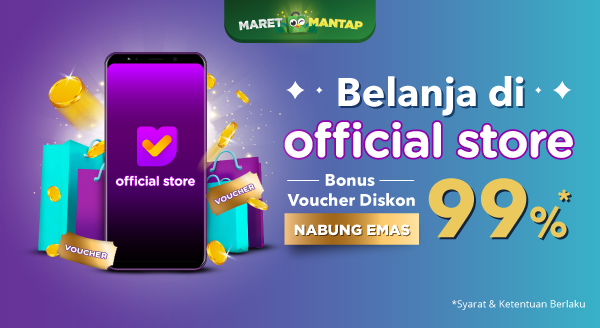 Belanjan Di Official Store Rebut Voucher Diskon Nabung Emas 99%