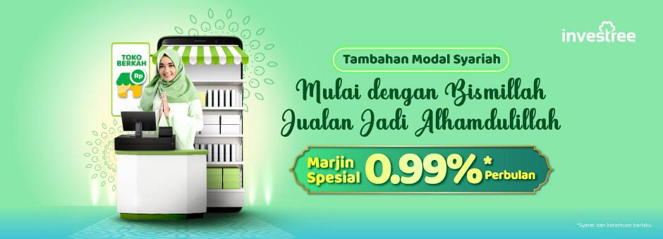 Pinjaman Modal Investree Promo Marjin Spesial  0.99%