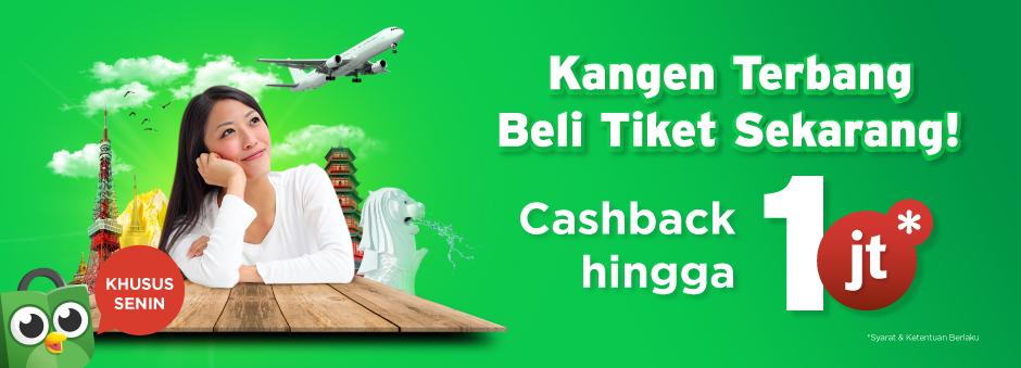 Senin Tiba, Pesen Tiket Pesawat Segera!