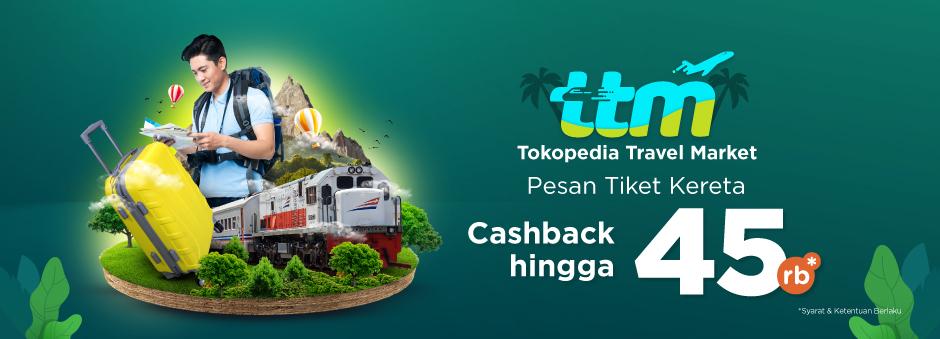 Naik Kereta Bareng TTM Dapat Cashback s.d 45 rb