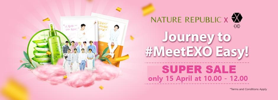 SUPER SALE Tiket EXO x Nature Republic!