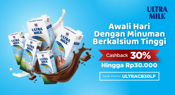 Isi Asupan Gizi Di Pagi Hari dengan Ultra Milk Low Fat, Cashback 30%!