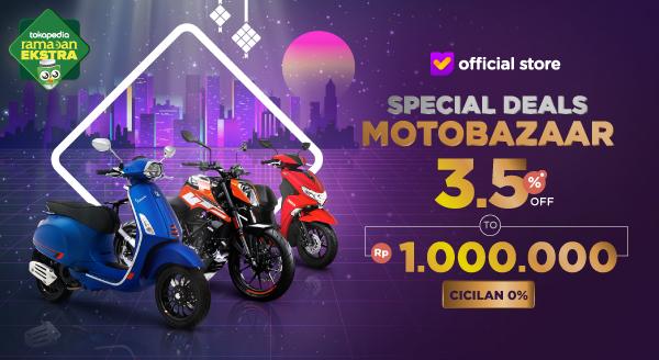 Beli Motor Baru Dengan Diskon 3.5% hingga Rp1.000.000