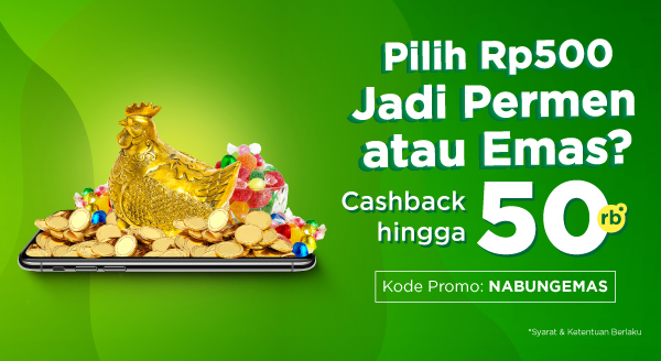 Nabung Emas Terus Raih Cashback Hingga Rp50.000