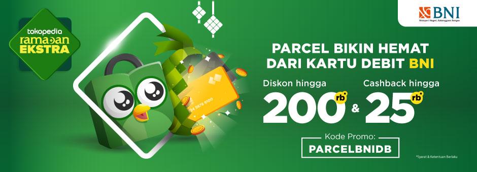 Double Benefit dari BNI Debit , Diskon hingga Rp200.000 dan Cashback Rp25,000