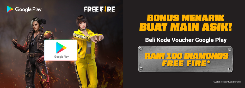 Promo Voucher Game Google Play - Free Fire | Tokopedia