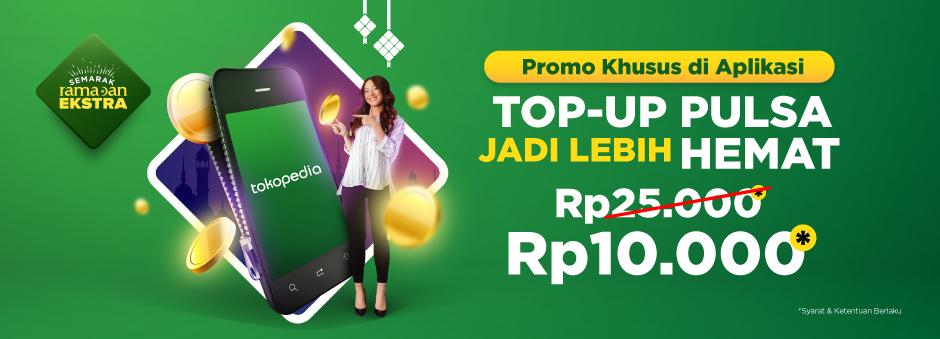 Top-up Pulsa Rp25.000, Cuma Bayar Rp10.000!