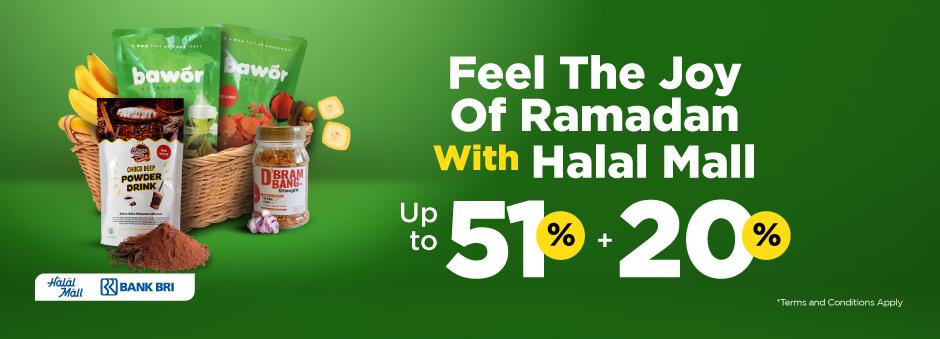 Dapatkan Berbagai Produk Halal dari Halal Mall. Diskon Hingga 51% + Ekstra 20%