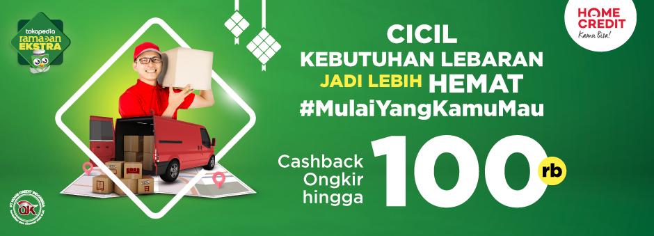 Belanja Praktis dengan Home Credit, Cashback Ongkos Kirim hingga 100rb!