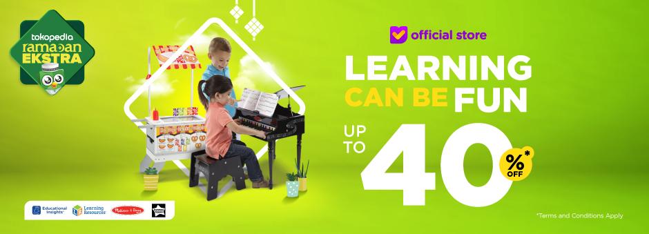 Belajar Sambil Bermain Bersama Si Kecil. Diskon Hingga 40%
