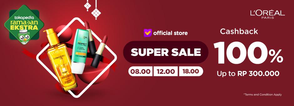 Super Sale LOREAL, Cashback 100%!