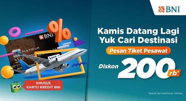 Kamis Tiba, Beli Tiket Pesawat Segera!