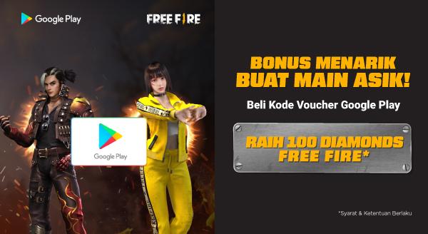 Mau Dapat Bonus 100 Diamonds di Game Free Fire?