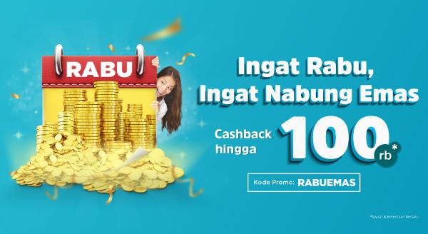 Nabung Emas Tiap Rabu Makin Seru Dengan Cashback Hingga 100ribu