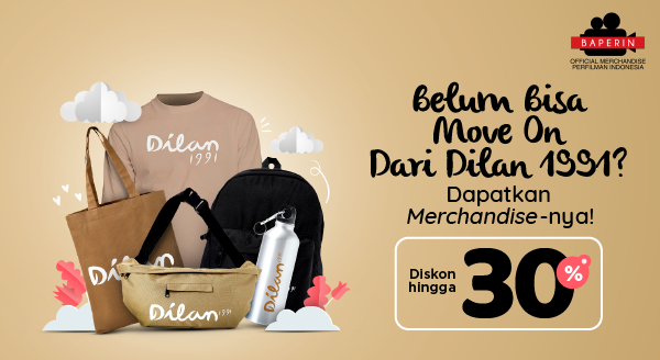 Kerennya Merchandise Dilan 1991 Ada Di Baperin Official Store . Diskon Hingga 30%.